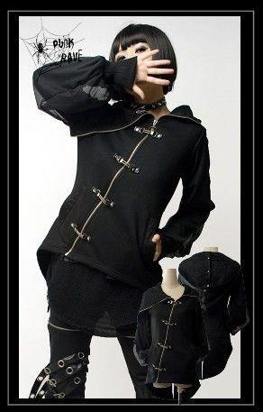 fashion punk gothic visual kei cool coat jacket top emo