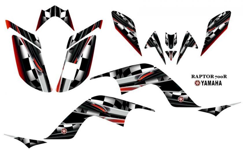Yamaha Raptor 700 ATV Quad Graphics Decal kit #3002Red
