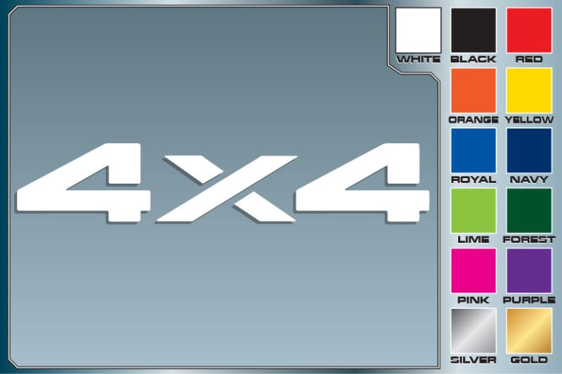 4x4 TRUCK Offroad cut vinyl decal sticker #2 car decals