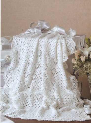 baby CROCHET AFGHAN PATTERNS Lace Afghan Blankets New Keepsake