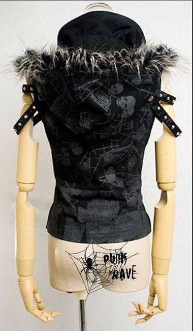 cool Visual Kei Punk Gothic Lolita Coat top vest jacket