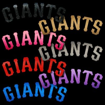 San Francisco Giants 2 Color Text Window Sticker Decal