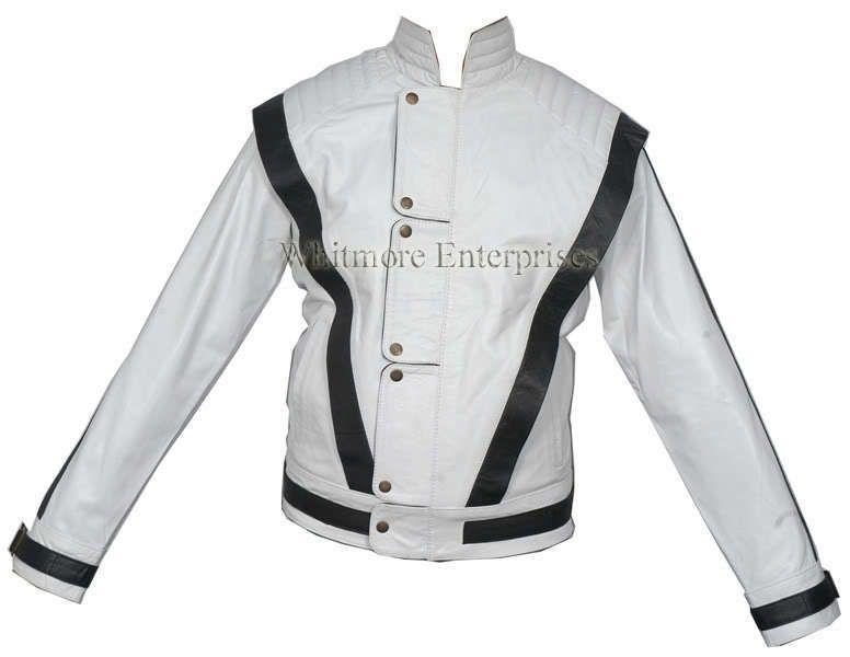 Michael Jackson THRILLER White Faux Stylish Leather Jacket   All Sizes
