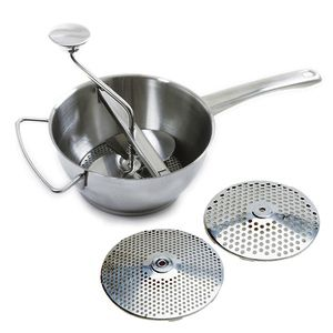 Norpro Food Mill 18/10 Stainless Steel 2Qt With 2 Discs 028901005955