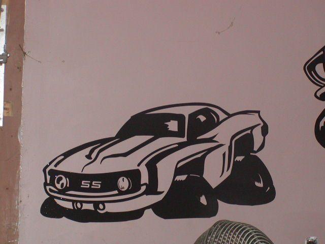 HUGE Camaro Kids wall Art Boys Room Decal Decals