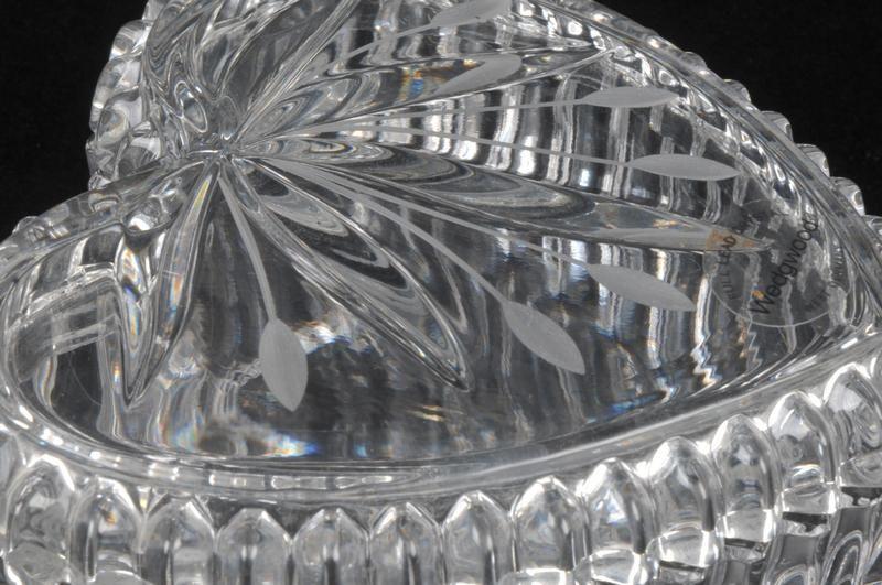 WEDGWOOD Crystal Glass Heart Trinket / Jewelry Box |