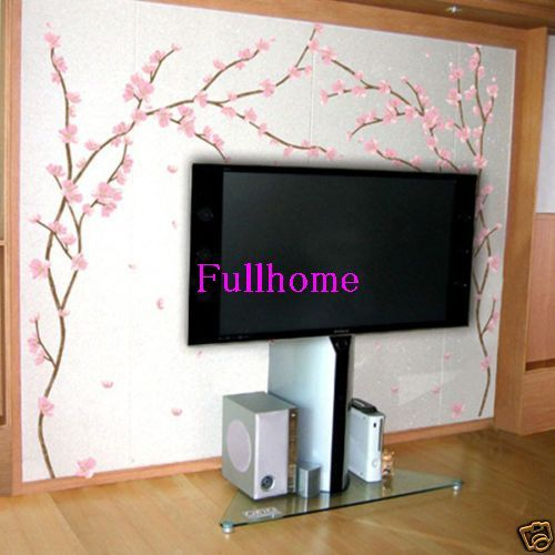 PINK Flower art Wall PAPER Stickers DIY Mural Deco Decal,R020