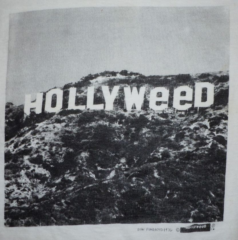 VINTAGE 1970s 1976 HOLLYWOOD SIGN PRANK HOLLYWEED WEED POTHollywood Sign 1970s
